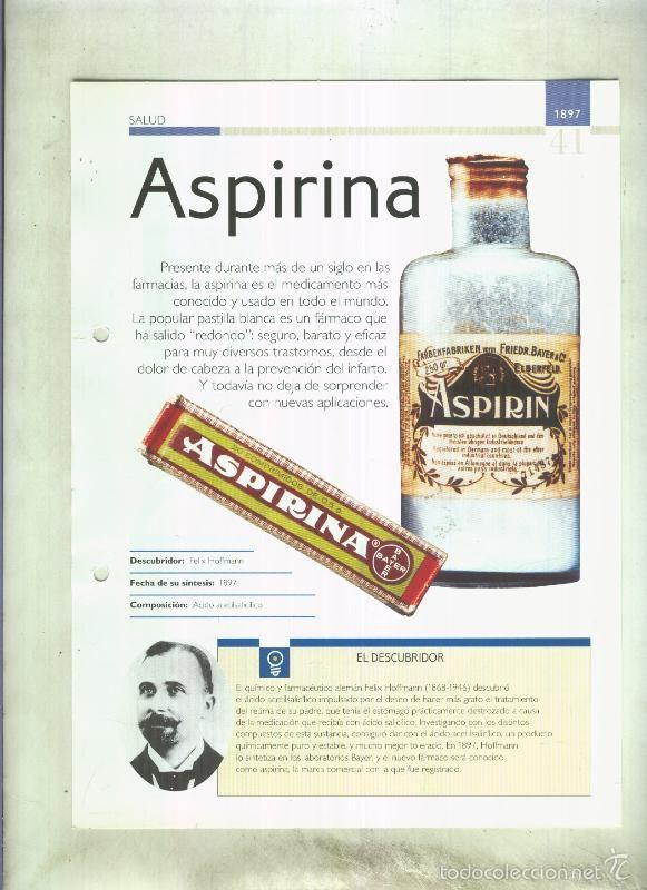 ASPIRINA: SON 4 PAGINAS Y (Coleccionismo - Laminas, Programas y Otros Documentos)