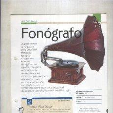 Coleccionismo: FONOGRAFO: SON 4 PAGINAS Y. Lote 55563010