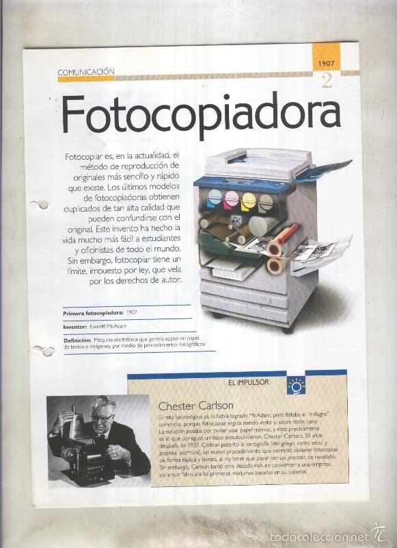 FOTOCOPIADORAS SON 4 PAGINAS Y (Coleccionismo - Laminas, Programas y Otros Documentos)