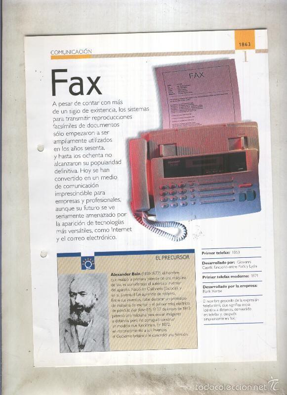 FAX: SON 4 PAGINAS Y (Coleccionismo - Laminas, Programas y Otros Documentos)