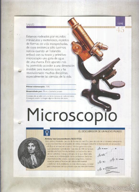 MICROSCOPIO: SON 4 PAGINAS Y (Coleccionismo - Laminas, Programas y Otros Documentos)