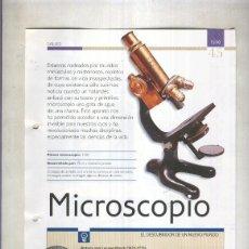 Coleccionismo: MICROSCOPIO: SON 4 PAGINAS Y . Lote 55563044