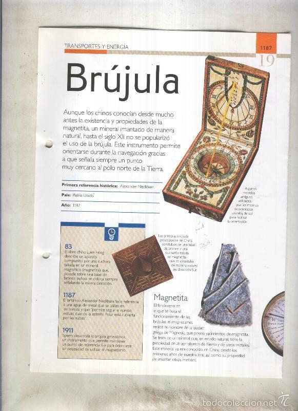 BRUJULA: SON 4 PAGINAS Y (Coleccionismo - Laminas, Programas y Otros Documentos)