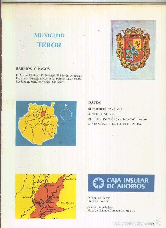 municipio canario de teror: 4 paginas, 9 fotos - Comprar Documentos ...