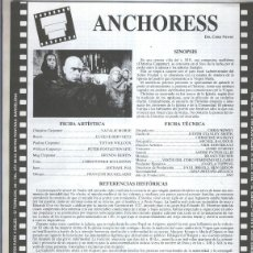 Coleccionismo: HOJA PROPAGANDA CINE: ANCHORES DE CHRIS NEWBY. Lote 55566785