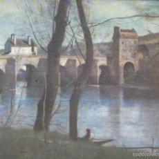 Coleccionismo: LAMINA NUMERO 62: JEAN BAPTISTE C.COROT: PUENTE DE MANTES. Lote 55676041