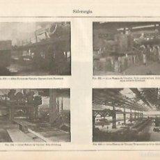 Coleccionismo: LAMINA ESPASA 724: IMAGENES DE ALTOS HORNOS DE VIZCAYA. Lote 55677628