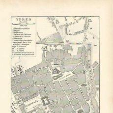 Coleccionismo: LAMINA ESPASA 1637: PLANO DE YPRES BELGICA. Lote 55681169