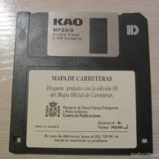 Coleccionismo: DISKETES PC MAPA DE CARRETERAS. Lote 55710128