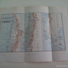 Coleccionismo: LAMINA ESPASA 1953: MAPA DE CHILE. Lote 55895513