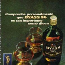 Coleccionismo: ANUNCIO PUBLICIDAD BRANDY BYASS 96. Lote 55915367