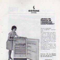 Coleccionismo: ANUNCIO PUBLICIDAD PELICULAS VALCA-FRIGORIFICOS SIEMENS. Lote 55925788