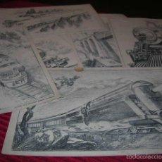Coleccionismo: ANTIGUAS LÁMINAS DE TRENES.SUCESOR DE E. MESEGUER,EDITOR - BARCELONA.. Lote 56001305