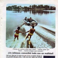 Coleccionismo: ANUNCIO PUBLICITARIO MOTOR FUERABORDA JOHNSON. Lote 56006675