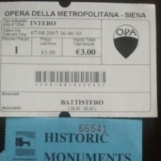 Coleccionismo: ENTRADA MONUMENTOS DE ESCOCIA. Lote 56052332