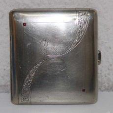 Coleccionismo: PITILLERA MODERNISTA. METAL PLATEADO. ESPAÑA. AÑOS 20. Lote 56114530