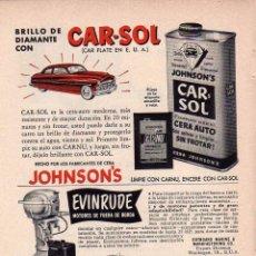 Coleccionismo: ANUNCIO PUBLICIDAD MOTOR FUERABORDA EVINRUDE. Lote 56119769