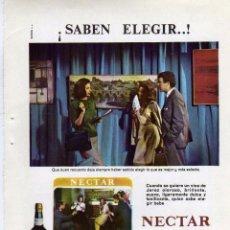 Coleccionismo: ANUNCIO PUBLICIDAD LICOR NECTAR CREAM DE GONZALEZ BYASS. Lote 56122474
