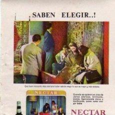 Coleccionismo: ANUNCIO PUBLICIDAD LICOR NECTAR CREAM DE GONZALEZ BYASS. Lote 56123022