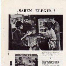 Coleccionismo: ANUNCIO PUBLICIDAD LICOR NECTAR CREAM DE GONZALEZ BYASS. Lote 56123063