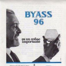 Coleccionismo: ANUNCIO PUBLICIDAD BRANDY BYASS 96. Lote 56123223