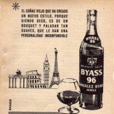 Coleccionismo: ANUNCIO PUBLICIDAD BRANDY BYASS 96. Lote 56131180