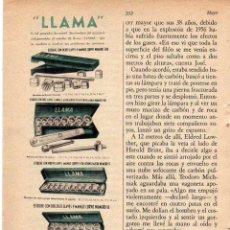 Coleccionismo: ANUNCIO PUBLICIDAD HERRAMIENTAS LLAMA. Lote 56145816