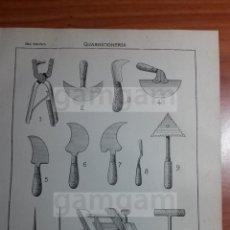 Coleccionismo: LAMINA - GUARNICIONERIA -AÑO 1912- 24.5 X 15,5 CM(REF BD) TRABAJO , HERRAMIENTAS Y MAQUINAS ANTIGUAS. Lote 56164582