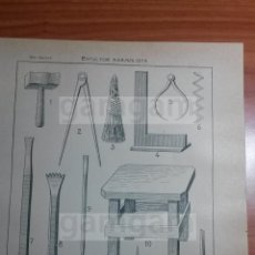 Coleccionismo: LAMINA - ESCULTURA ESCULTOR -AÑO 1912- 24.5 X 15,5 CM (REF BD) TRABAJO , HERRAMIENTAS Y MAQUINAS. Lote 56164639