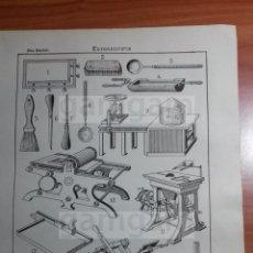 Coleccionismo: LAMINA - ESTEREOTIPIA -AÑO 1912- 24.5 X 15,5 CM (REF BD) TRABAJO , HERRAMIENTAS Y MAQUINAS . Lote 56164662