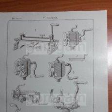 Coleccionismo: LAMINA - FUMISTERIA -AÑO 1912- 24.5 X 15,5 CM (REF BD) TRABAJO , HERRAMIENTAS Y MAQUINAS. Lote 56164722