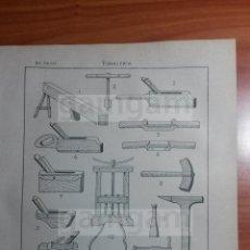 Coleccionismo: LAMINA - TONELERIA -AÑO 1912- 24.5 X 15,5 CM (REF BD) TRABAJO , HERRAMIENTAS Y MAQUINAS ANTIGUAS. Lote 56164770