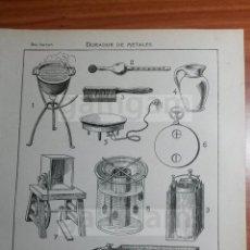 Coleccionismo: LAMINA - DORADOR DE METALES METAL -AÑO 1912- 24.5 X 15,5 CM (REFBD) TRABAJO , HERRAMIENTAS MAQUINAS. Lote 56164894
