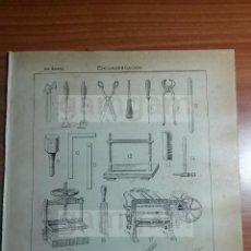 Coleccionismo: ENCUADERNACION -AÑO 1912- 24.5 X 15,5 CM (REF BD) TRABAJO , HERRAMIENTAS Y MAQUINAS ANTIGUAS. Lote 56165031