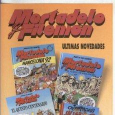 Coleccionismo: FOLLETO PROPAGANDA EDICIONES B: MORTADELO Y FILEMON. Lote 55451048