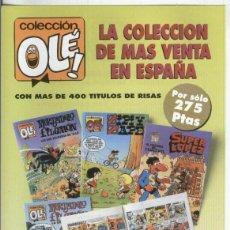 Coleccionismo: FOLLETO PROPAGANDA EDICIONES B: COLECCION OLE. Lote 55451050