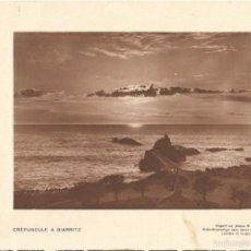 Coleccionismo: LAMINA 2364: CREPUSCULE A BIARRITZ. Lote 56213064