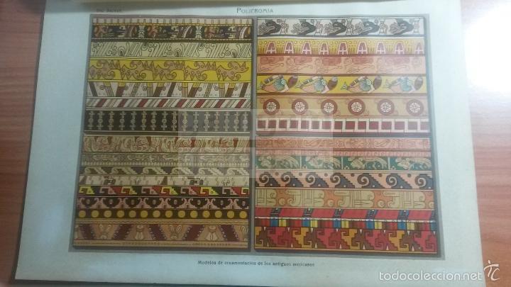 LAMINA -- POLICROMIA MEJICO , EN DICCIONARIO ANTIGUO --AÑO 1912- (REF BF) 24.5 X 15,5 CM (Coleccionismo - Laminas, Programas y Otros Documentos)
