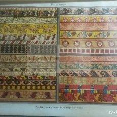 Coleccionismo: LAMINA -- POLICROMIA MEJICO , EN DICCIONARIO ANTIGUO --AÑO 1912- (REF BF) 24.5 X 15,5 CM. Lote 56238852