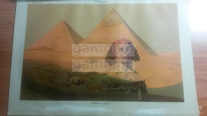 LAMINA -- PIRAMIDE EGIPTO EN DICCIONARIO ANTIGUO --AÑO 1912- (REF BF) 24.5 X 15,5 CM (Coleccionismo - Laminas, Programas y Otros Documentos)