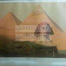 Coleccionismo: LAMINA -- PIRAMIDE EGIPTO EN DICCIONARIO ANTIGUO --AÑO 1912- (REF BF) 24.5 X 15,5 CM. Lote 56238860