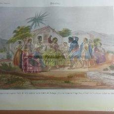 Collecting paper - BOLERO , CALETA DE MALAGA - LAMINA de diccionario antiguo --año 1912- (ref BF) 24.5 X 15,5 CM - 56238931