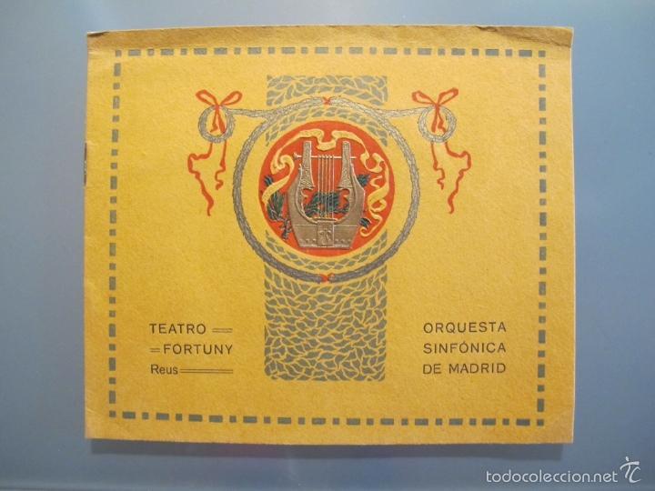 PROGRAMA DE LA ORQUESTA SINFÓNICA DE MADRID 1913 (Coleccionismo - Laminas, Programas y Otros Documentos)