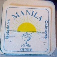 Coleccionismo: POSAVASOS HELADERIA MANILA. Lote 56282205