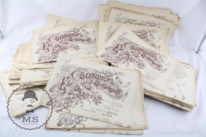 conjunto de antiguos patrones para labores - co - Comprar Documentos ...