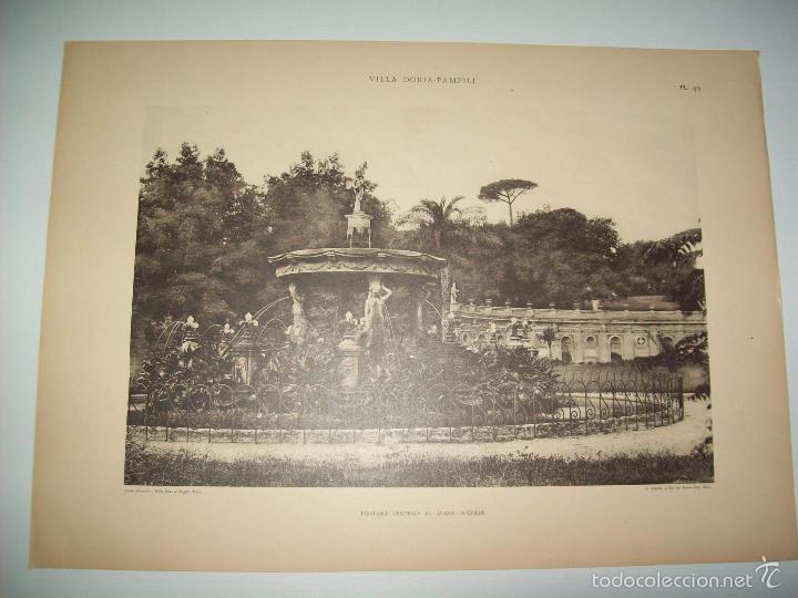 lamina 1169: villa doria-pamfili. fontaine cent - Buy Old Sheets of ...