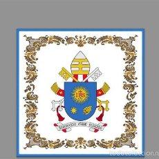 Coleccionismo: AZULEJO 10X10 DEL ESCUDO DEL PAPA FRANCISCO.. Lote 56496900