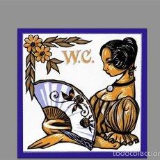 Coleccionismo: AZULEJO 10X10 WC MUJER. Lote 56515469