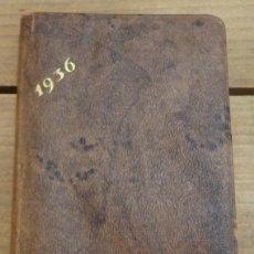 Coleccionismo: ANTIGUA AGENDA ALMANAQUE DE BOLSILLO DE 1936, GUERRA CIVIL, SOCIEDAD ANONIMA BASAURI, BILBAO, IMPEC. Lote 56614457