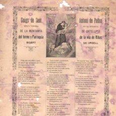 Coleccionismo: GOIGS DE SANT ANTONI DE PADUA DE LA MONTANYA DE ORTELLFET, RIBAS (ANGLADA, VICH, 1916). Lote 56650305